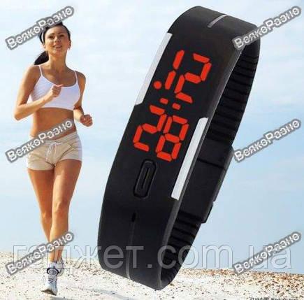 Спортивные часы / Оригинальные LED часы /светодиодные часы черного  цвета, фото 2