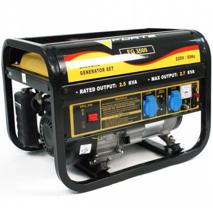 Генератор бензиновый Forte FG3500, фото 2