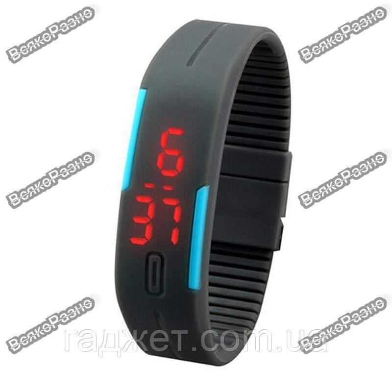 Оригинальные LED часы /светодиодные часы серого цвета.