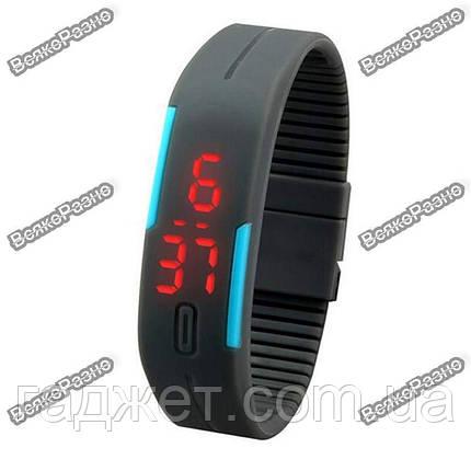 Оригинальные LED часы /светодиодные часы серого цвета., фото 2