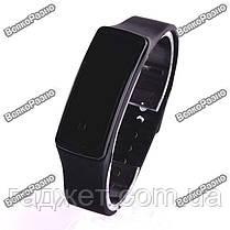Часы силиконовые спортивные черного цвета., фото 3