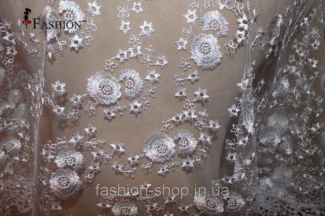 Весільна хустка біла Яна, фото 2