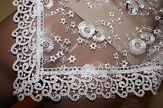 Весільна хустка біла Яна, фото 3