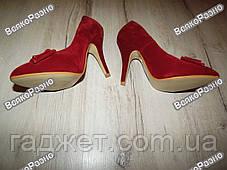 Женские туфли красного цвета., фото 3