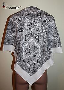 Платок белый шерстяной Агафия
