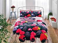 Комплект постельного белья TAC 3D saten Berry евро