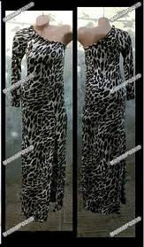 Стильное платье Леопардовый принт,спереди разрез,размер S-M