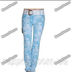 Новые, очень красивые летние штаны + пояс в комплекте, фото 2