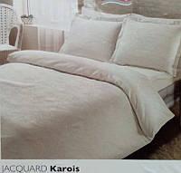 Еврокомплект постельного белья TAC jakar Karois  евро белый