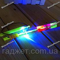 Светодиодный светящийся вертолетик с рогаткой, фото 2