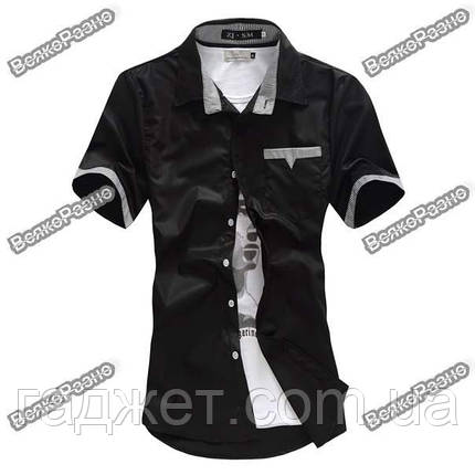 Мужская рубашка с коротким рукавом размер XXL, фото 2