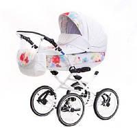 Детская классическая коляска 2 в 1 Katrina кожа 1S Adamex