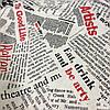 Ткань декоративная с тефлоновой пропиткой принт газета