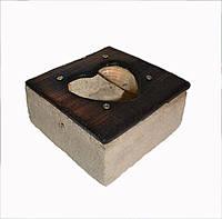Интерьерная декоративная рамка-кактусница  в форме сердца