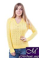 Классический женский джемпер желтого цвета (р.42-44, 46-48, 50-52) арт.JS325