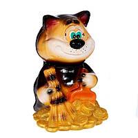 Садовая фигура Кот с веником Глянец