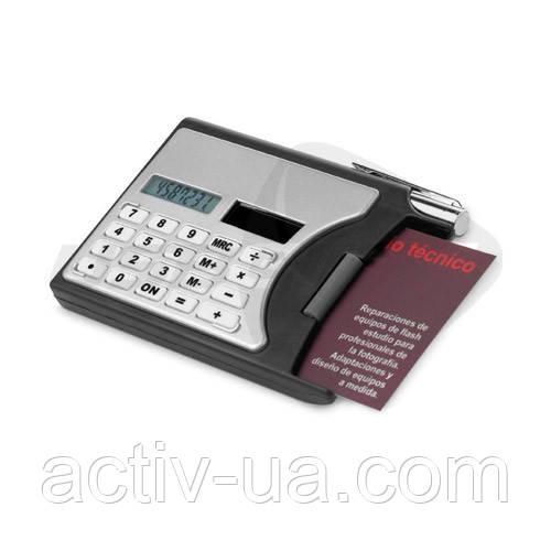 Калькулятор-визитница на солнечных батареях с ручкой