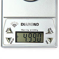 Цифрові високоточні ваги DIAMOND (20g~0.001 g), фото 1