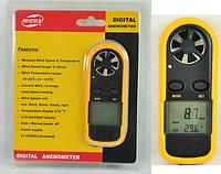 Цифровой крыльчатый анемометр GM816 (0,7 - 30 м/с) (деление - 0,1м/с) с измерением температуры