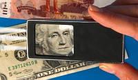 Карманная лупа с подсветкой и ультрафиолетовым лучём для проверки денег