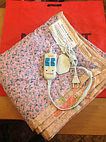 Двухспальная  электропростынь KET с двойным регулятором.Бязь.Турция 155х140см., 110 Вт., макс.т. 40С