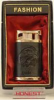 Подарочная зажигалка FASHION в черной коже модель PZ5436