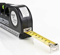 Лазерный уровень нивелир Fixit Laser Level PR0 3 в 1: лазерный уровень, жидкостный уровень, рулетка