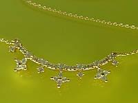 """Подвеска """"Моника"""" лучшего качества с устойчивым покрытием золота и цирконием."""