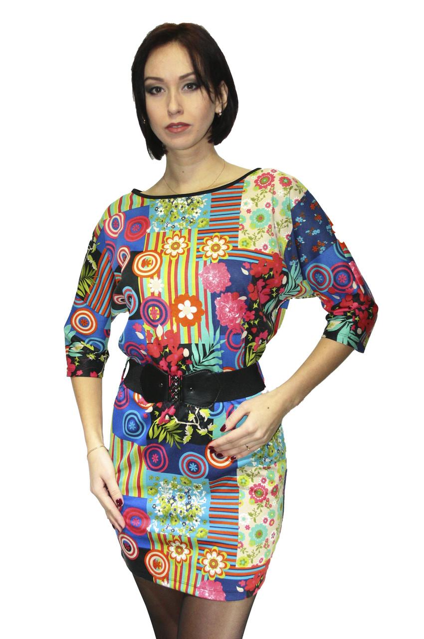 Платье Oscar Fur ПТ-13 Абстрактный узор