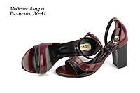 Босоножки на цветном каблуке., фото 1