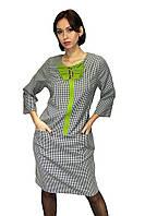 Женское платье с карманами, удлиненное (батал)