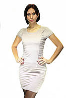 Платье Oscar Fur ПТ-21-1  Светло-бежевый