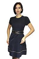 Женское платье с широким поясом
