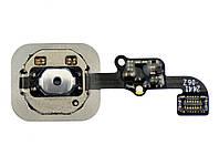 Кнопка home для iPhone 6, iPhone 6 Plus в сборе со шлейфом белая