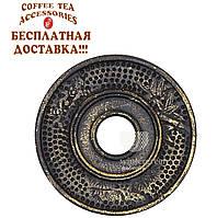 Традиционная чугунная подставка под чайник Золото 18 см