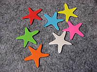 Вырубка из картона. Морская звезда 30х30 мм