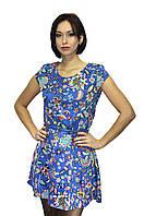 Летнее платье, приталенное, с рисунком