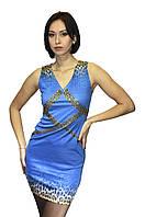 Женское летнее платье со стразами