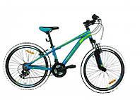 Велосипед Mascotte Phoenix 24 сине - зеленый 2017