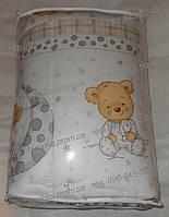 """Защита цельная в кроватку новорожденного- № 152 """"Мишки в пижамке"""", фото 1"""