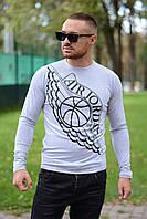 """Пуловер мужской из хлопка с эластаном серый """"Air"""""""