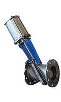 Шиберная ножевая задвижки с наклоном Ду 125 мм