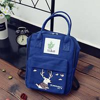 Сумка-рюкзак для города с модным принтом оленя