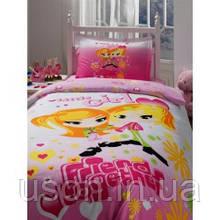 Комплект постельного белья ранфорс Storway полуторное little girl