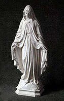 Скульптуры из бетона.Статуя Богородицы №16 из белого бетона 63 см