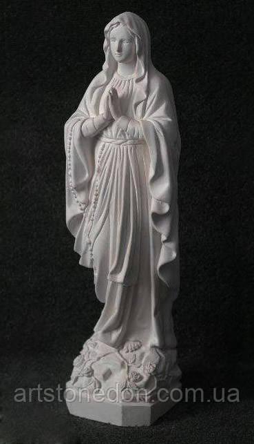 Статуя Богородицы №17 из белого бетона 70 см