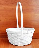 Корзина из бамбука, 29х20 см, белая