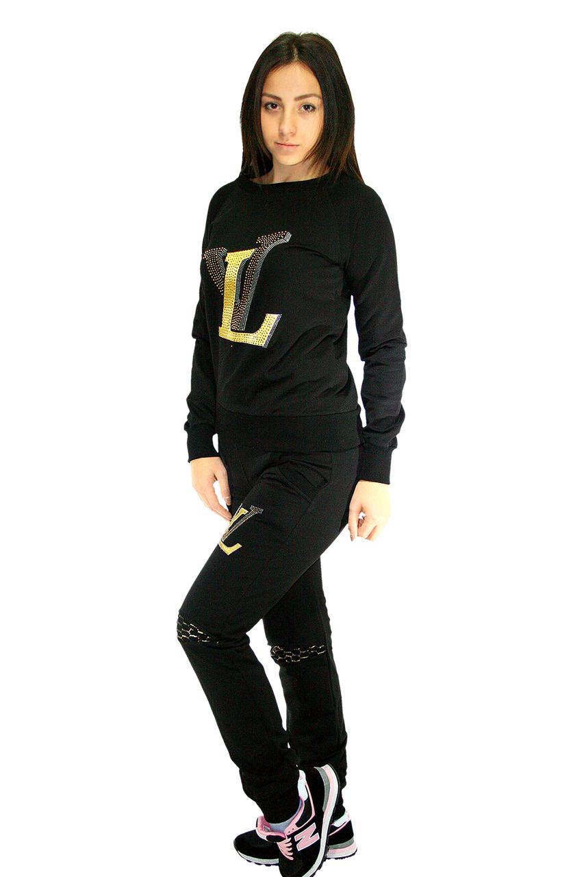Костюм спортивный с вышивкой, цвет - черный / tracksuit SK - 4