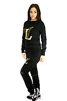 Костюм спортивный с вышивкой, цвет - черный