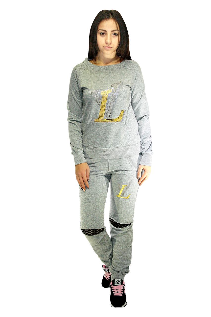 Костюм спортивный для девушек, серого цвета / tracksuit SK4-1